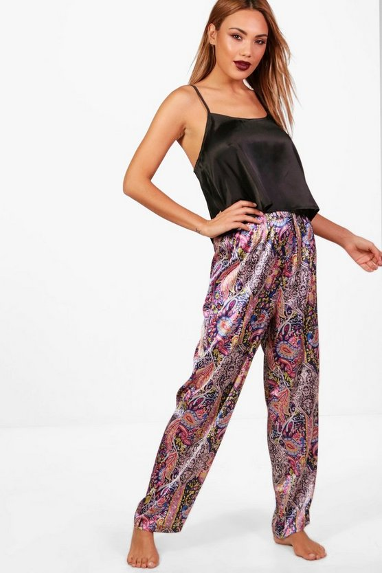 Alice Satin Paisley Trouser & Cami Set