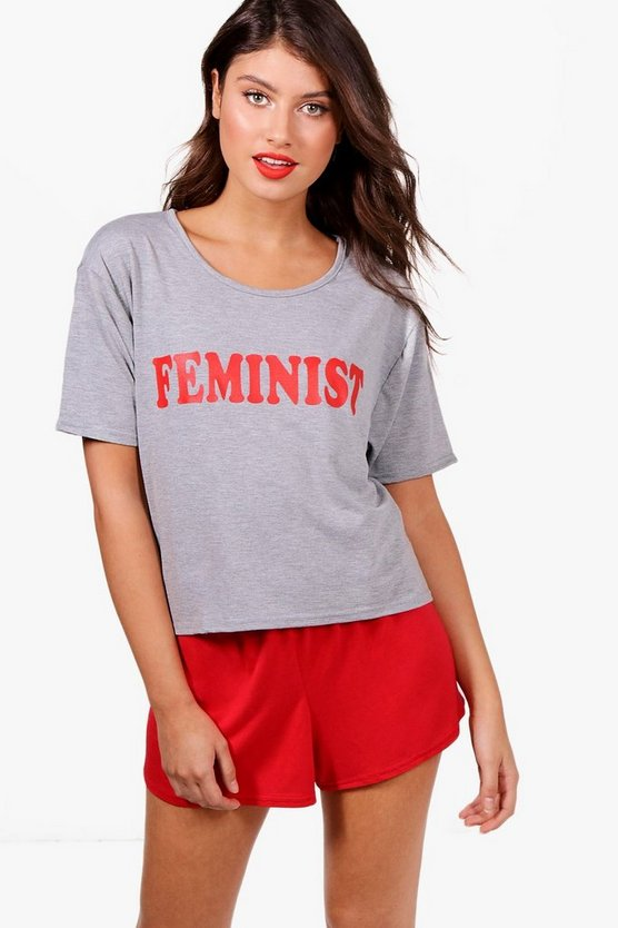 Elena Feminist Short & T-Shirt Set