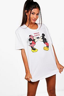 """Nachthemd mit """"True Love""""- und Disney-Print - Boohoo.com"""