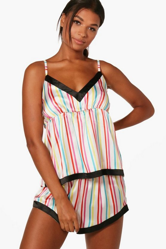 Lizzie Multi Stripe Cami And Short Set