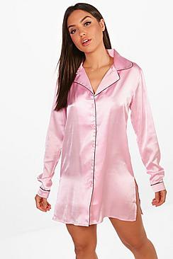 Maisy Nachthemd mit Knopfleiste - Boohoo.com