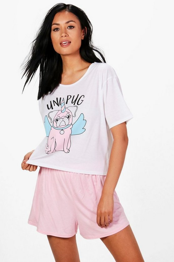 Millie Uni Pug T & Short Set