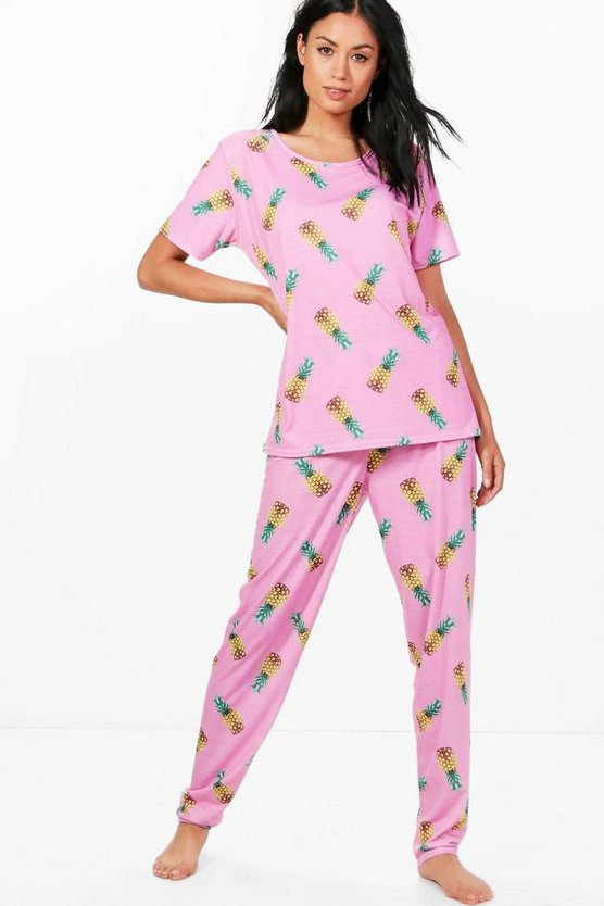 Imogen Pineapple Printed T & Legging Set
