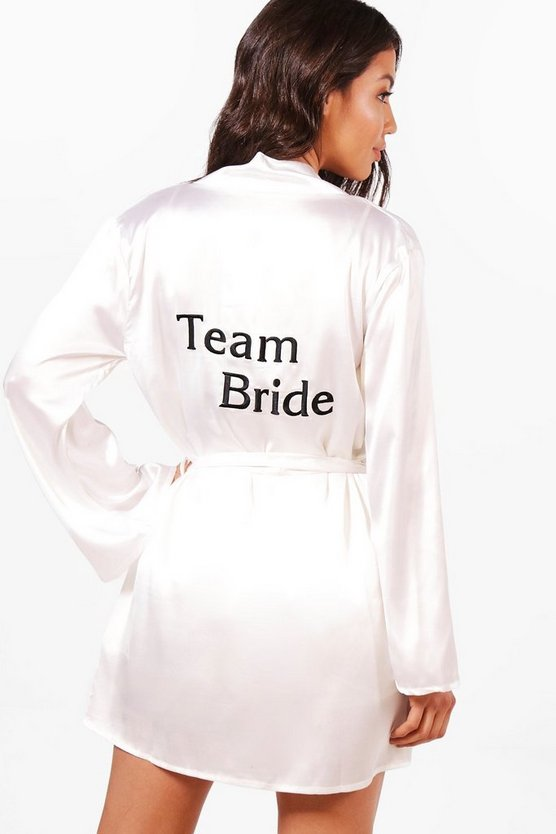 Julia Team Bride Morgenmantel in Satin-Optik