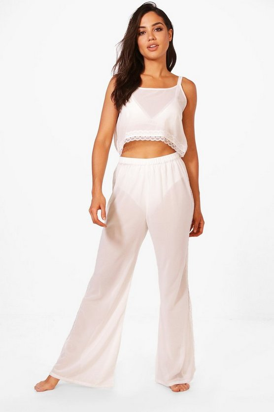 Oivia Lace Trouser + Crop Set