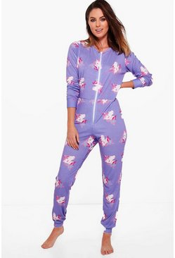 Grace Unicorn Print Onesie