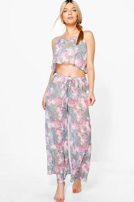 Zoe Floral Sheer Printed PJ Set
