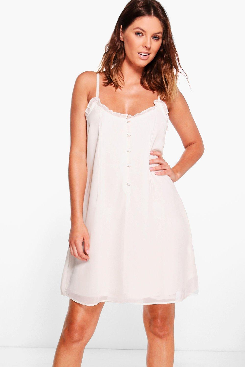 Olivia Pretty Strappy Embroidered Cami Dress