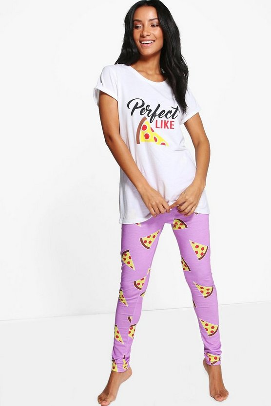 Amelie Perfect Like Pizza Jogger And Tee
