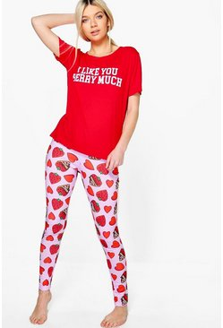 Lilly I Like You Berry Much PJ Trouser Set