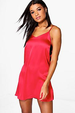 Emily Strap Detail Satin Slip Night Dress