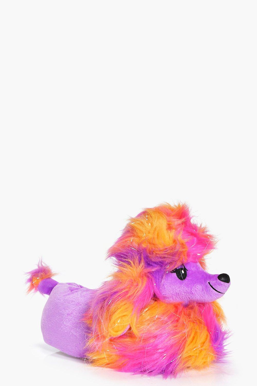 Isla Sparkle Faux Fur Bright Poodle Slippers