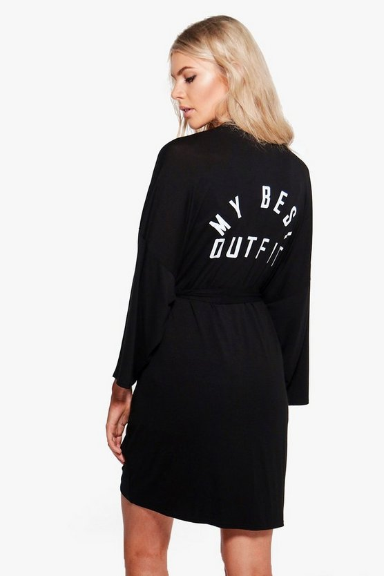Heidi Best Outfit Slogan Dressing Gown
