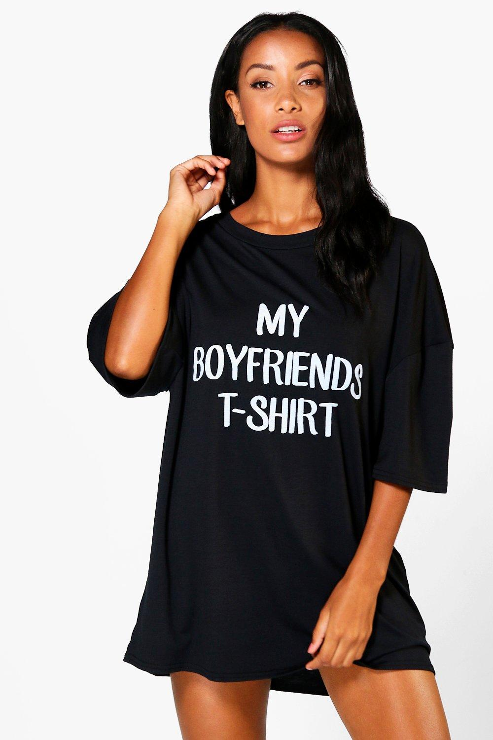 Annabel Boyfriend Slogan Oversize Nightie
