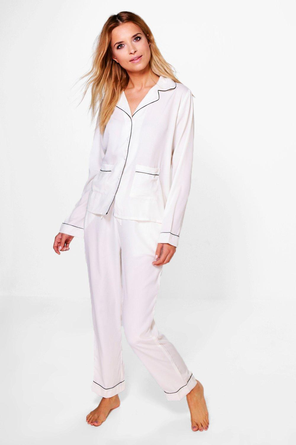 Layla Pyjama Shirt And Trouser Set