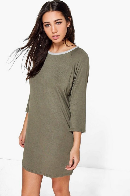 Mia Raglan Sleeve Button Detail Night Dress