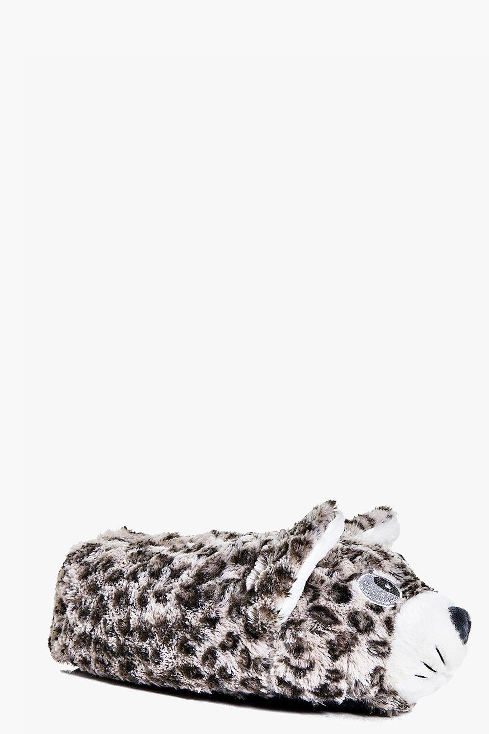Amelia Cat Leopard Slippers