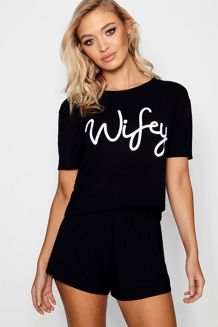 Amy Wifey Bridal T-shirt And Shorts PJ Set