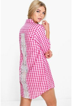 Emilia Check Shirt Night Dress