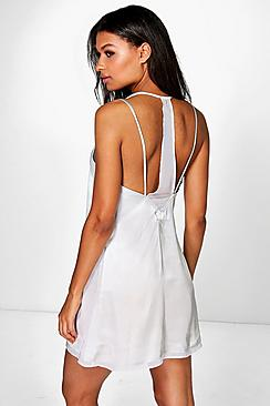 Zoe Satin Strappy Back Detail Baby Doll