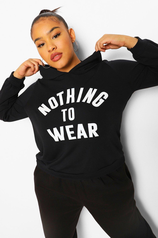 boohoo Plus Nothing To Wear Oversized Hoodie