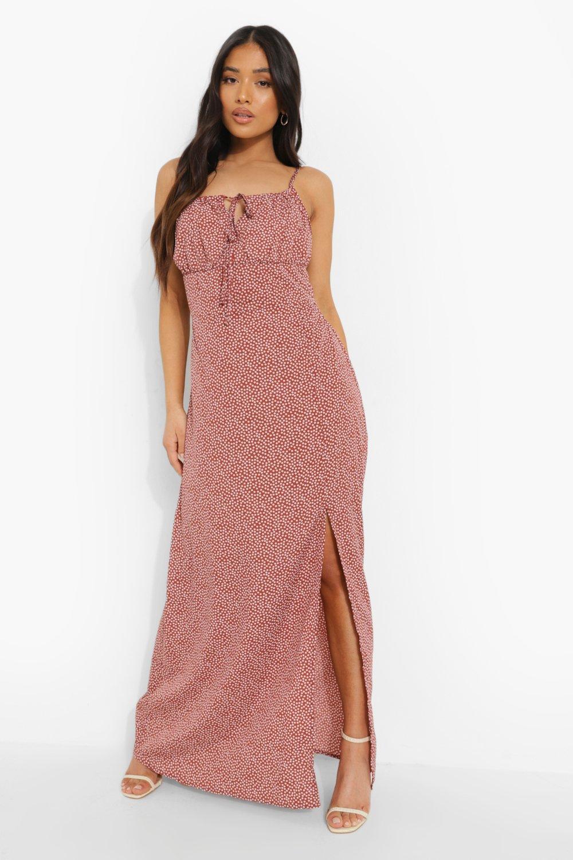 Boohoo Petite Ditsy Floral Maxi Dress