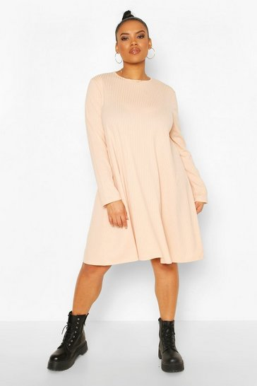 Blush Plus Jumbo Rib Swing Dress