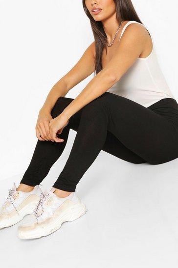 Black Petite 2 Pack Basic Leggings