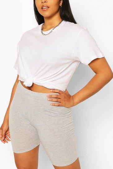 Grey Plus Basic Cycle Shorts