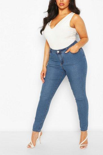 Plus Blue Skinny Jeans