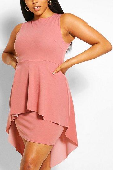 Blush Plus Peplum Midi Dress