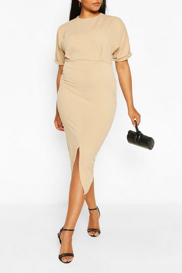 Stone Plus Wiggle Midaxi Dress