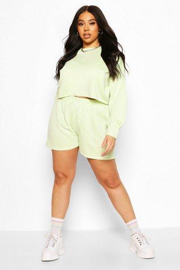 Lime Plus Balloon Sleeve Sweat & Short Set