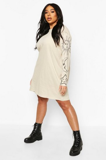 Stone Plus Sun & Moon Oversized T-Shirt Dress