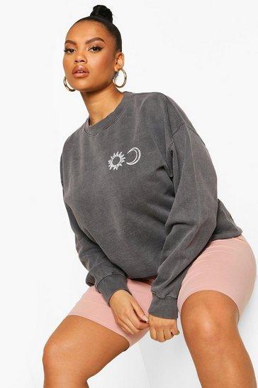 Black Plus Sun & Moon Sweatshirt
