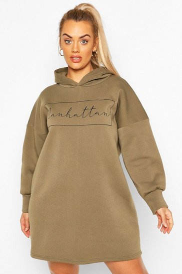 Khaki Plus Manhattan Oversized Sweat Dress