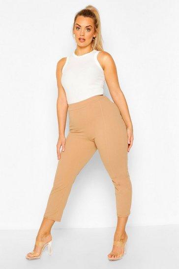 Camel Plus Stitch Seam Jodhpur Trousers