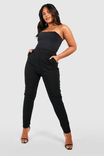 Black Plus Super Stretch Fitted Trouser