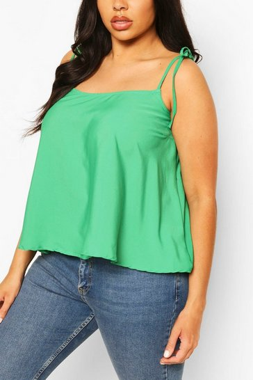 Green Plus Woven Swing Cami Top