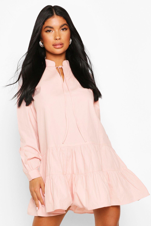 Sale Dresses Petite Long Sleeve Smock Dress