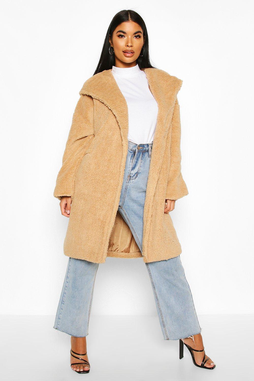 SALE Petite Oversized Hooded Teddy Coat