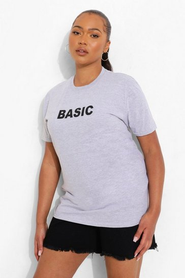 Grey Plus 'Basic' T-Shirt