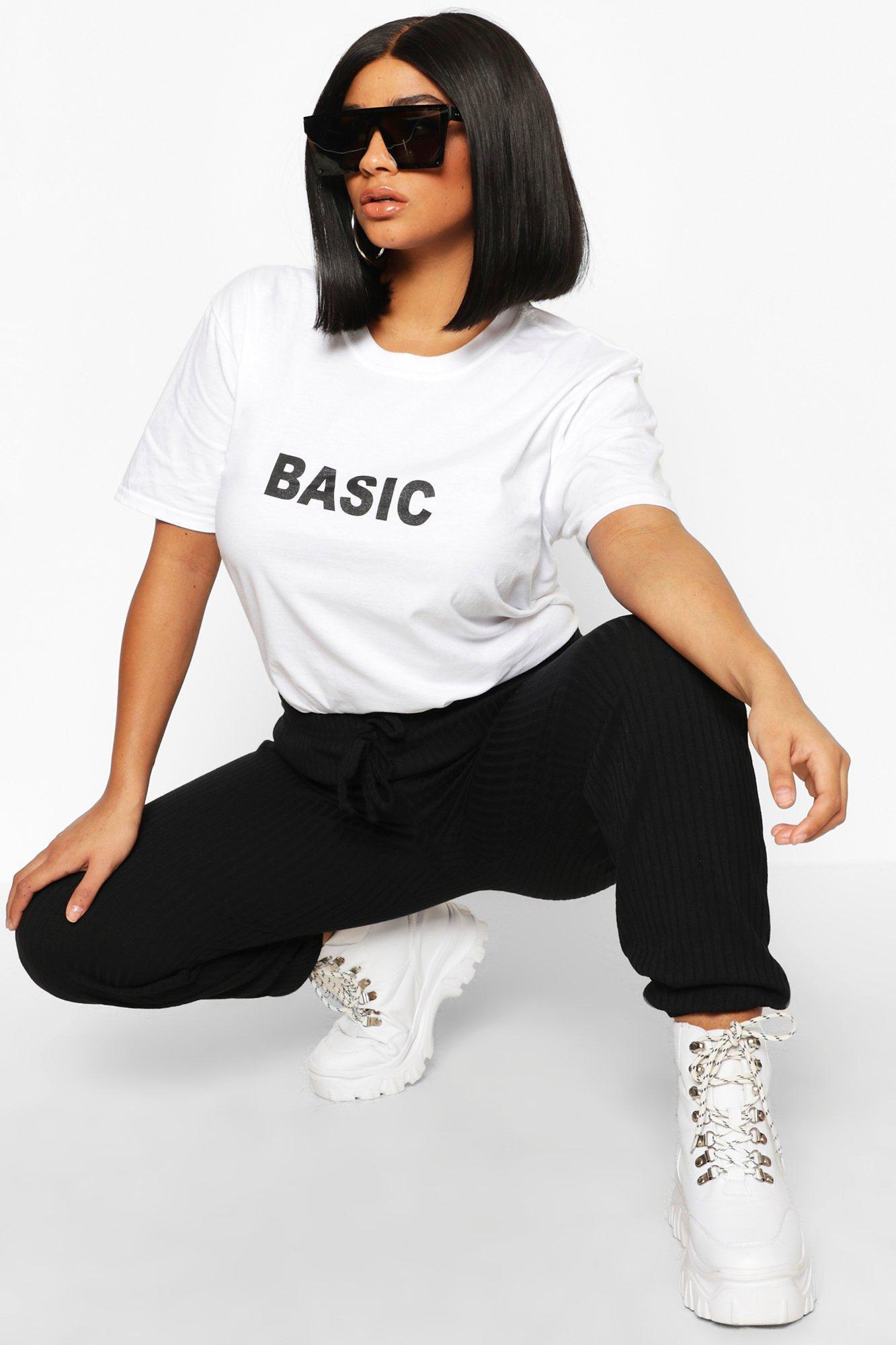 Womens Plus 'Basic' T-Shirts - Weiß - 52, Weiß - Boohoo.com