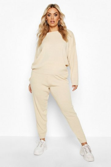 Stone Plus Knitted Jumper & Jogger Set