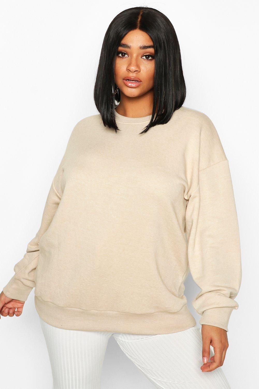 Womens Plus Oversized Sweatshirt - steingrau - 44, Steingrau - Boohoo.com