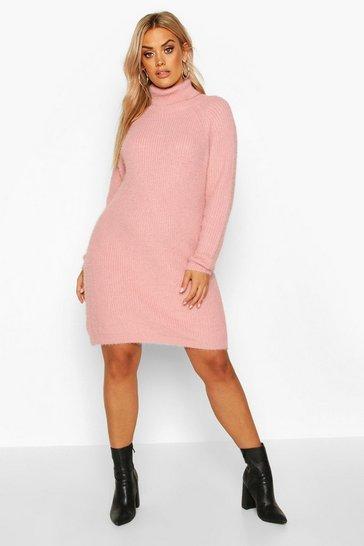 Blush Plus Super Soft Knitted Mini Jumper Dress