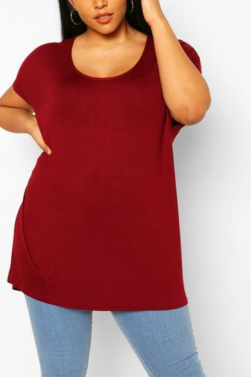Berry Plus Oversized T-Shirt