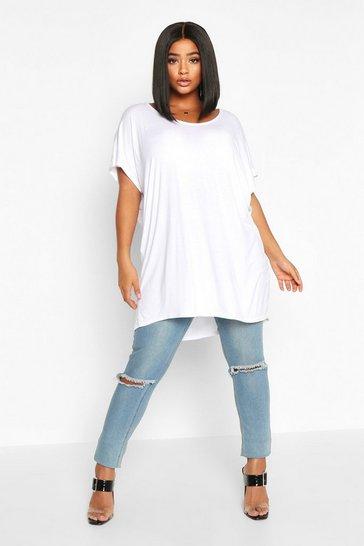 White Plus Oversized T-Shirt