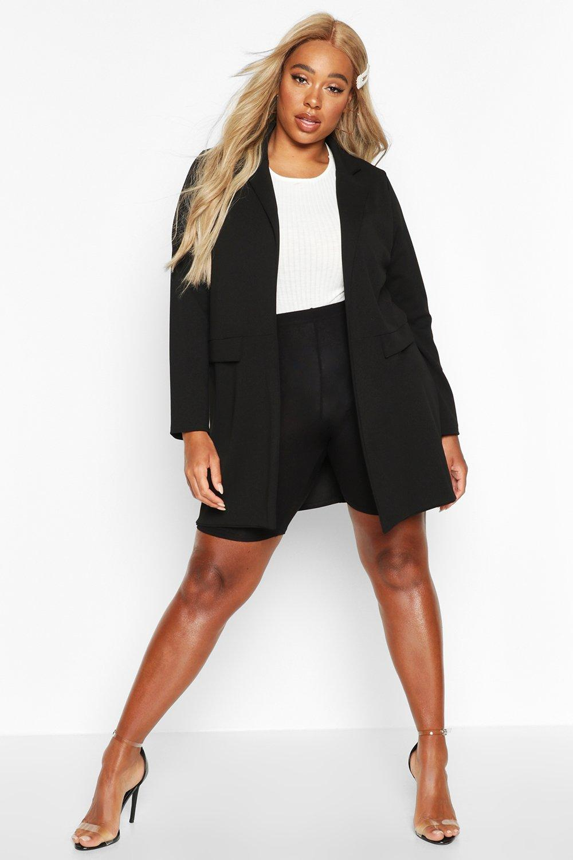 boohoo Womens Plus Pocket Detail Boyfriend Blazer - Black - 20, Black