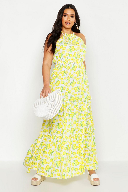 Lemon Halter Maxi